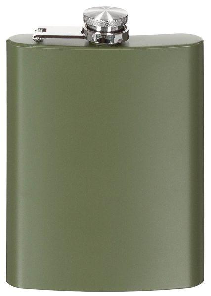 FoxOutdoor Flachmann Edelstahl oliv 8 OZ 6 OZ