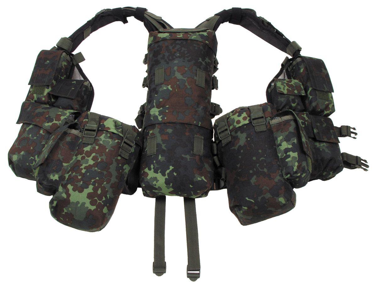 Image of Tactical Weste, div. Taschen, flecktarn